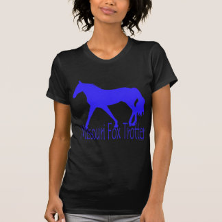 Missouri Fox Trotter Blue Horse Silhouette T-Shirt