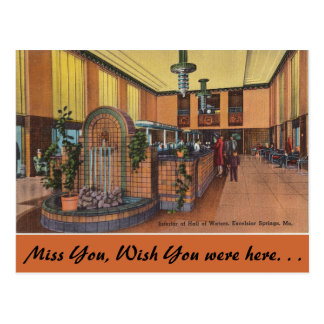 Missouri, Hall of Waters, Excelsior Springs Post Cards