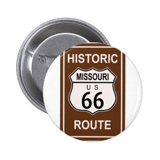 Missouri Historic Route 66 6 Cm Round Badge