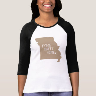 Missouri Home Sweet Home Mocha Brown T-Shirt