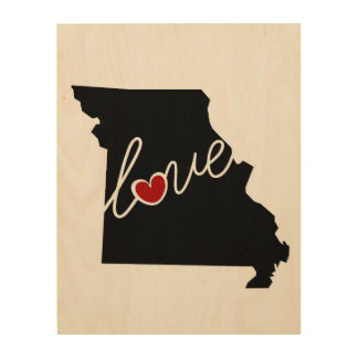 Missouri Love!  Gifts for MO Lovers Wood Canvases