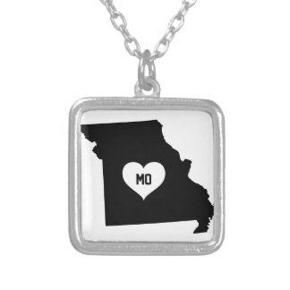 Missouri Love Silver Plated Necklace