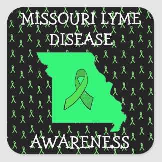 Missouri Lyme Disease Ribbons Awareness Stickers