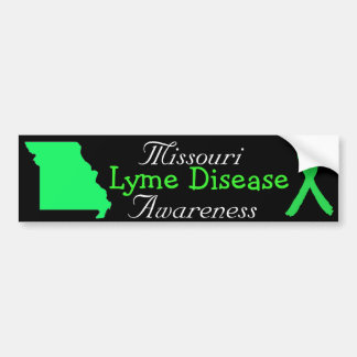 Missouri Lyme Disease Ribbons Bumper Sticker