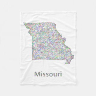 Missouri map fleece blanket