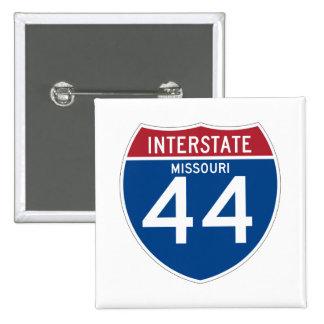 Missouri MO I-44 Interstate Highway Shield - 15 Cm Square Badge