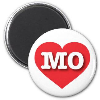 Missouri MO red heart 6 Cm Round Magnet