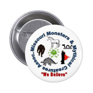 Missouri Monsters & Mythical Creatures Logo 6 Cm Round Badge
