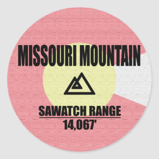 Missouri Mountain Round Sticker