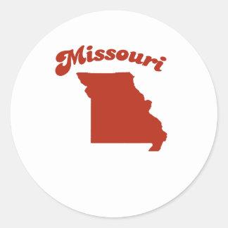 MISSOURI Red State Round Sticker