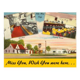 Missouri, Rita May Cafe Postcard