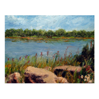 Missouri River Oil Landscape Painting Postcard