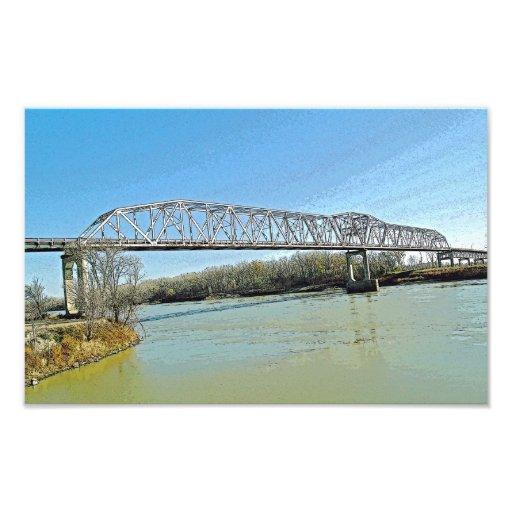 Missouri River Truss Bridge Photographic Print