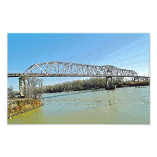 Missouri River Truss Bridge Photo Art