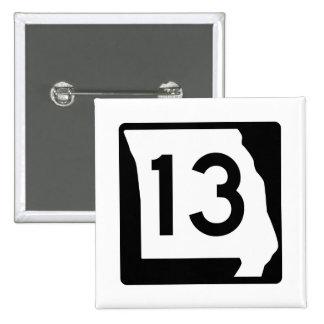 Missouri Route 13 15 Cm Square Badge