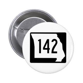 Missouri Route 142 6 Cm Round Badge