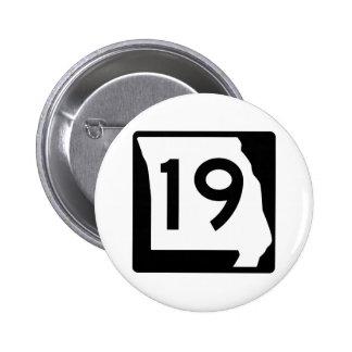 Missouri Route 19 6 Cm Round Badge