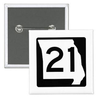 Missouri Route 21 15 Cm Square Badge