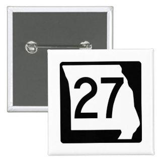 Missouri Route 27 15 Cm Square Badge