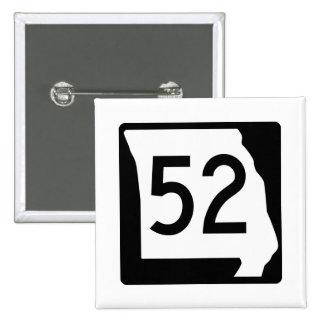 Missouri Route 52 15 Cm Square Badge