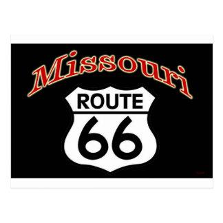 Missouri Route 66 Shield Postcard