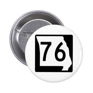 Missouri Route 76 6 Cm Round Badge