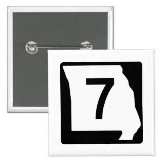 Missouri Route 7 15 Cm Square Badge