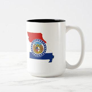 Missouri State Flag and Map Coffee Mugs