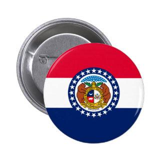 Missouri State Flag Design 6 Cm Round Badge