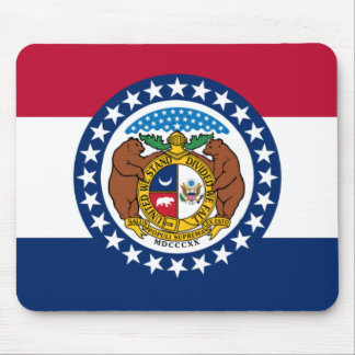 Missouri State Flag Mouse Pad