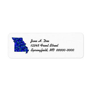 Missouri State Map Shape MO Return Address Label