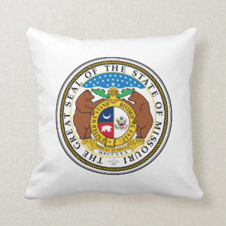 Missouri state seal america republic symbol flag cushion