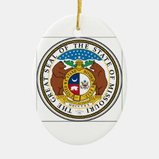 Missouri State Seal Ceramic Ornament