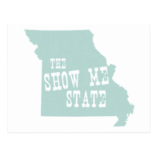 Missouri State Slogan Motto Postcard