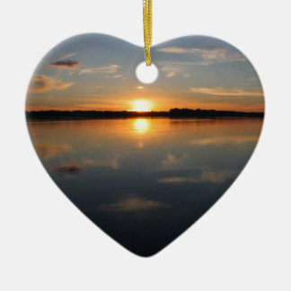 Missouri Sunset Ceramic Heart Decoration