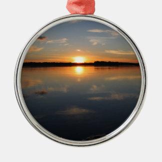 Missouri Sunset Silver-Colored Round Decoration