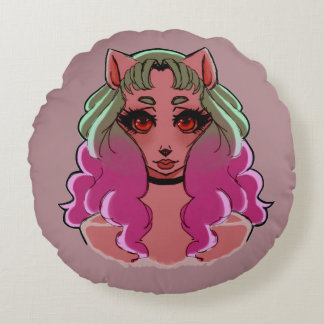 Missy Meowmaid Round Cushion