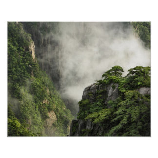 Mist among the peaks and valleys of Grand Canyon Poster