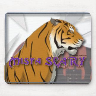 Mista SCARY Bengal Tiger Logo Mousepad