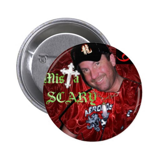 Mista SCARY Bling Red Blood Logo Button