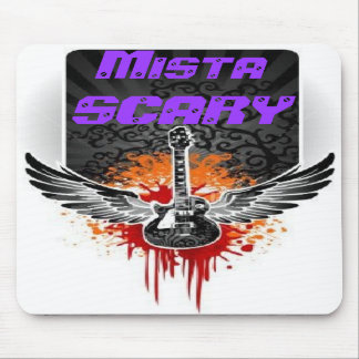 Mista SCARY Bloody Winged Guitar Mousepad