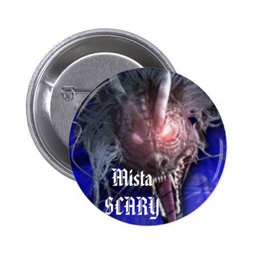 Mista SCARY Blue Dragon Button