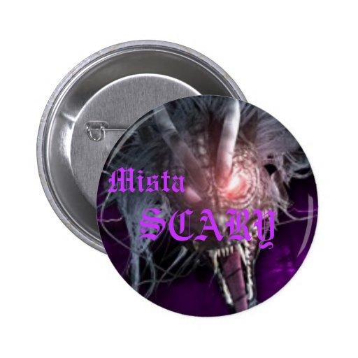 Mista SCARY Bright Purple Dragon Button