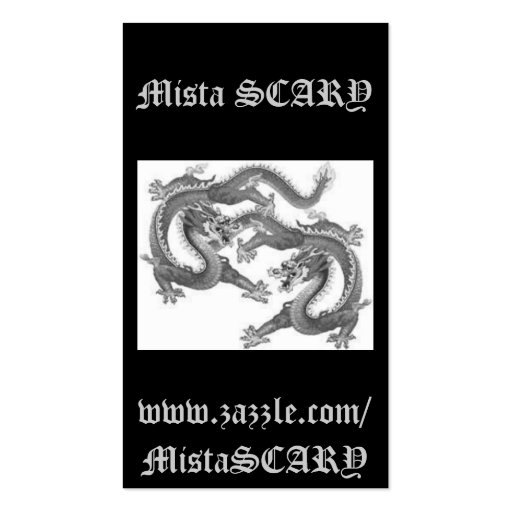Mista SCARY Chinese Dragons Lucky Profile Card Business Card Templates