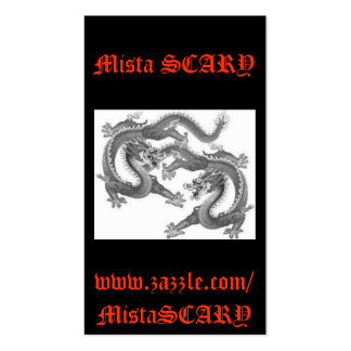 Mista SCARY Chinese Dragons Lucky Profile Card Pack Of Standard Business Cards