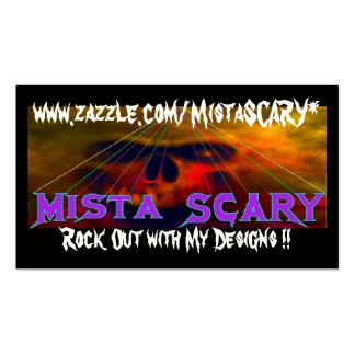 Mista SCARY Cloud Skull Banner Profile Cards Business Cards