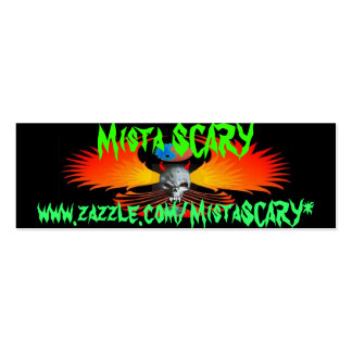 Mista SCARY Devil Skull Wing Phoenix Profile Card Pack Of Skinny Business Cards