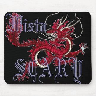Mista SCARY Dragon Oriental Logo Mousepad