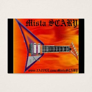 Mista SCARY Fire Flying V guitar Blue Dragon Card