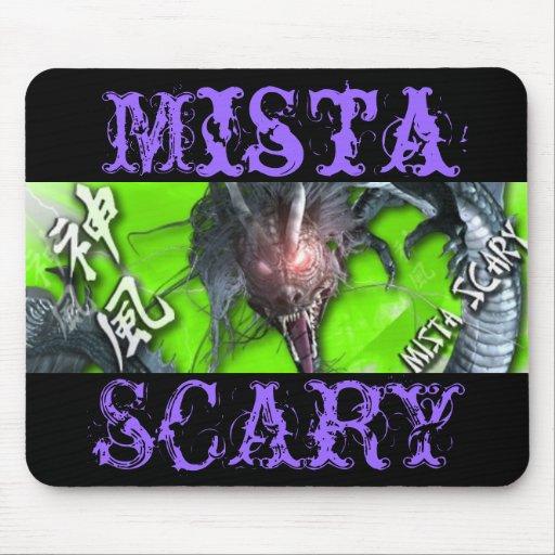 Mista SCARY Green Dragon Mousepad